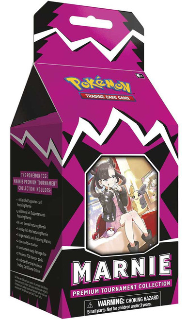 Pokemon Trading Card Game Sword & Shield Marnie Premium Tournament Collection [7 Booster Packs, 65 Card Sleeves, 4 Foil Supporter Cards & More]