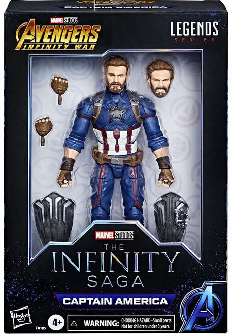Avengers: Infinity War Marvel Legends Captain America Exclusive Premium Action Figure [The Infinity Saga]