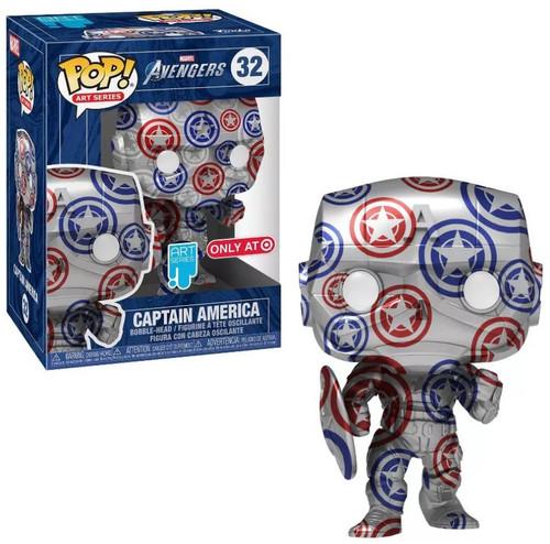 Funko Art Series POP! Marvel Captain America Exclusive Vinyl Figure #32 [Patriotic Age, Avengers, Stark Suit]