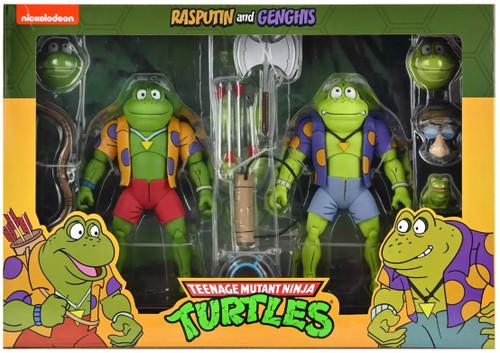 NECA Teenage Mutant Ninja Turtles Rasputin & Genghis Exclusive Action Figure 2-Pack
