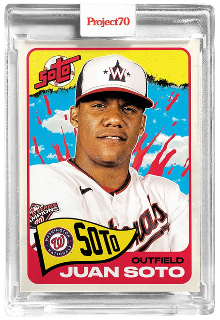 MLB Topps Project70 Baseball 1965 Juan Soto Trading Card [#161, By Tyson Beck]
