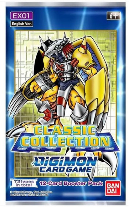 Digimon Trading Card Game Classic Collection Booster Pack EX01 [12 Cards] (Pre-Order ships December)