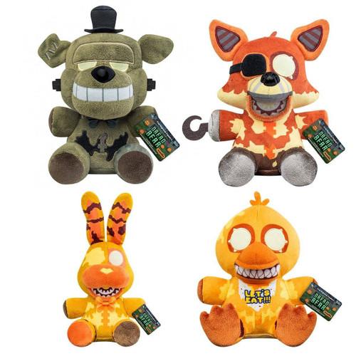 Funko Five Nights at Freddy's Curse of Dreadbear Dreadbear, Grim Foxy, Jack-O-Bonnie & Jack-O-Chica Set of 4 Plush (Pre-Order ships October)