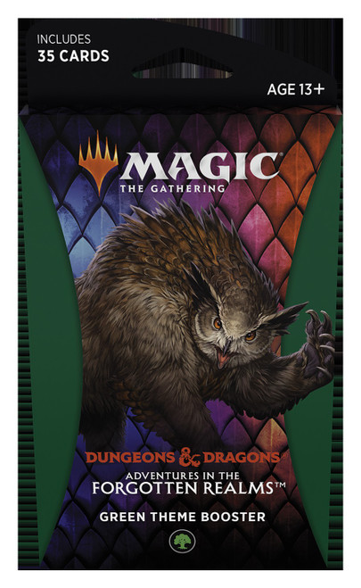 MtG Trading Card Game Adventures in the Forgotten Realms Green Theme Booster [35 Cards]