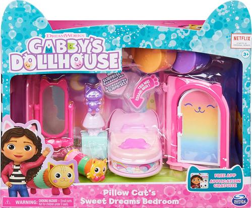 Gabby's Dollhouse Pillow Cat's Sweet Dreams Bedroom Playset