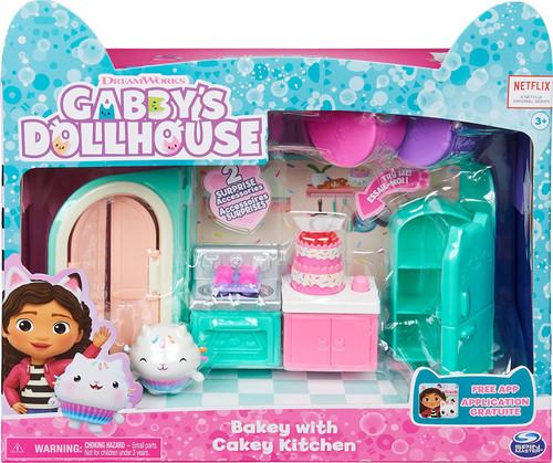 Gabby's Dollhouse Bakey with Cakey Kitchen Playset