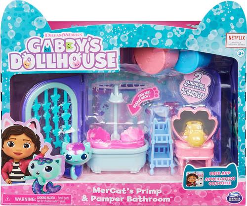 Gabby's Dollhouse Mercat's Primp & Pamper Bathroom Playset
