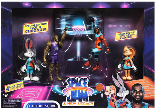 Space Jam: A New Legacy Elite Tune Squad Action Figure 4-Pack