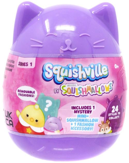 Squishmallows Squishville! Series 1 Mystery Mini Plush Capsule Pack [1 RANDOM Figure + 1 Fashion Accessory]