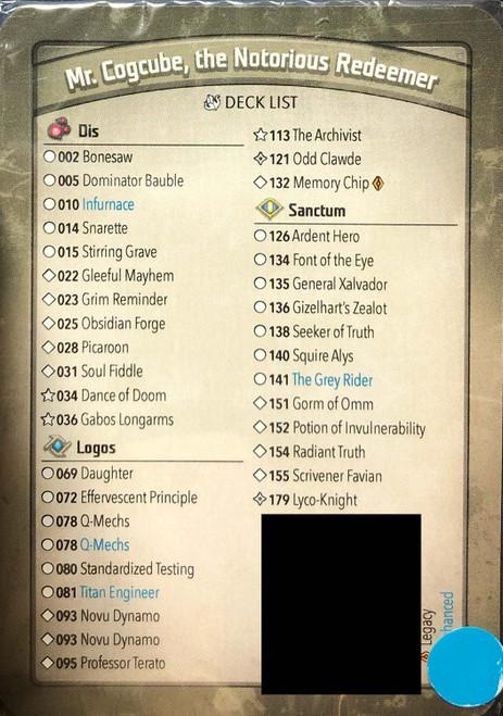 KeyForge Mass Mutation Mr. Cogcube, the Notorious Redeemer Archon Deck [Infurnace, Snarette, Memory Chip Legacy, Daughter, Scrivener Favian!] [Mint Unopened]