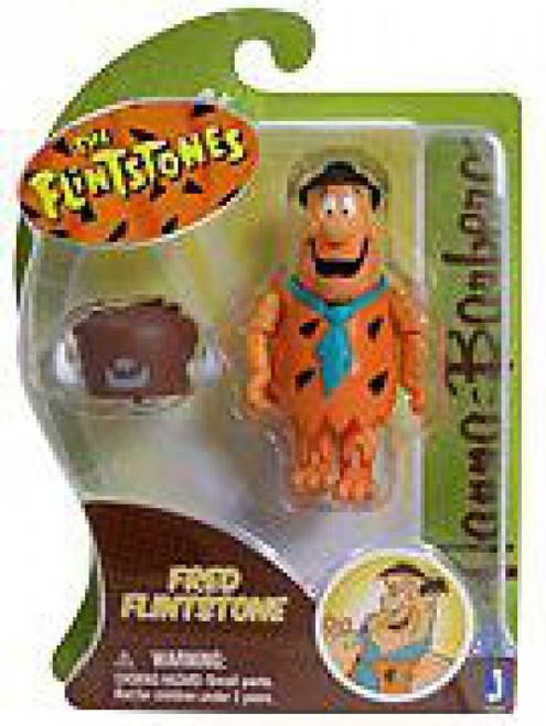 Hanna-Barbera The Flintstones Fred Flintstone 3-Inch Figure [With Buffalo Hat, Damaged Package]