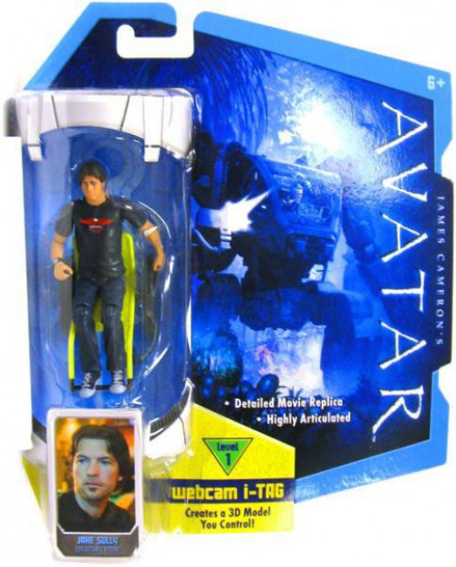 James Cameron's Avatar Jake Sully Action Figure [Long Hair, Damaged Package]