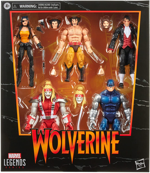 Marvel Legends Wolverine, Omega Red, Cyber, Callisto & Jason Wyngarde Exclusive Action Figure 5-Pack