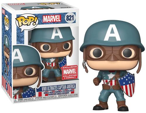 Funko POP! Marvel WWII Ultimates Captain America Exclusive Vinyl Figure #821