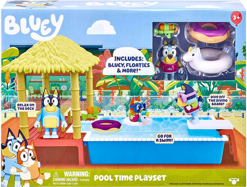 Bluey Pool Time Playset Playset