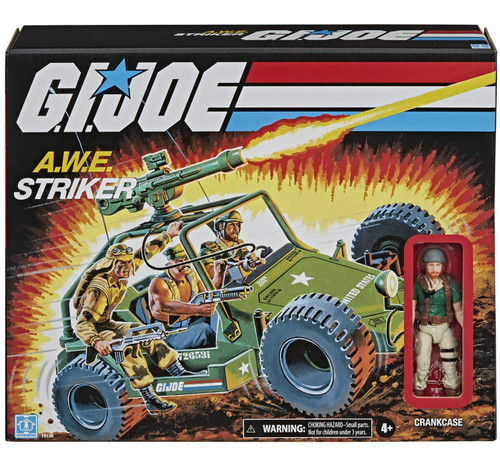 GI Joe Retro Collection A.W.E. Striker Exclusive 3.75-Inch Vehicle [with Crankcase Action Figure!, Damaged Package]