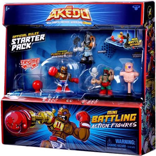 Akedo Ultimate Arcade Warriors Series 1 Mini Battling Action Figure STARTER Pack [3 RANDOM Figures] (Pre-Order ships October)