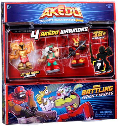 Akedo Ultimate Arcade Warriors Series 1 Mini Battling Action Figure FIGHT 4-Pack [4 RANDOM Figures] (Pre-Order ships October)