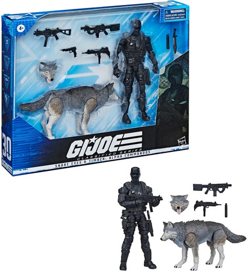 GI Joe Classified Series Snake Eyes & Timber Wolf Action Figure [Alpha Commandos] (Pre-Order ships October)