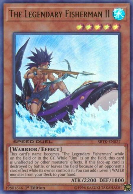 YuGiOh Speed Duel: Trials of the Kingdom Ultra Rare The Legendary Fisherman II SBTK-EN027