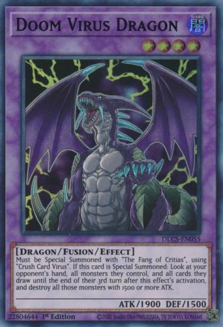 YuGiOh Dragons of Legend: The Complete Series Ultra Rare Doom Virus Dragon DLCS-EN055 [Green Variant]