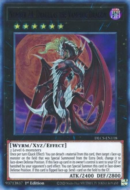 YuGiOh Dragons of Legend: The Complete Series Ultra Rare Number 24: Dragulas the Vampiric Dragon DLCS-EN118 [Purple Variant]