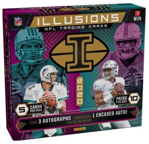 NFL Panini 2020 Illusions Football Trading Card HOBBY Box
