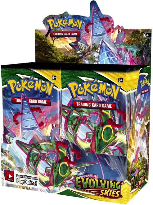 Pokemon Trading Card Game Sword & Shield Evolving Skies Booster Box [36 Packs]