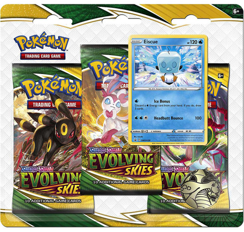 Pokemon Trading Card Game Sword & Shield Evolving Skies Eiscue Special Edition [3 Booster Packs & Promo Card]