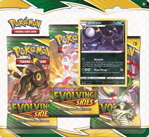 Pokemon Trading Card Game Sword & Shield Evolving Skies Umbreon Special Edition [3 Booster Packs & Promo Card]