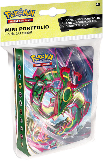 Pokemon Trading Card Game Sword & Shield Evolving Skies Mini Portfolio [Includes 1 Booster Pack, Holds 60 Cards]