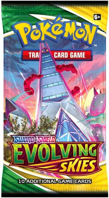 Pokemon Trading Card Game Sword & Shield Evolving Skies Booster Pack [10 Cards]