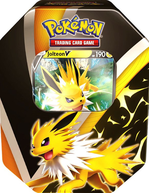 Pokemon Trading Card Game Eevee Evolutions Jolteon V Tin [4 Booster Packs & Promo Card]