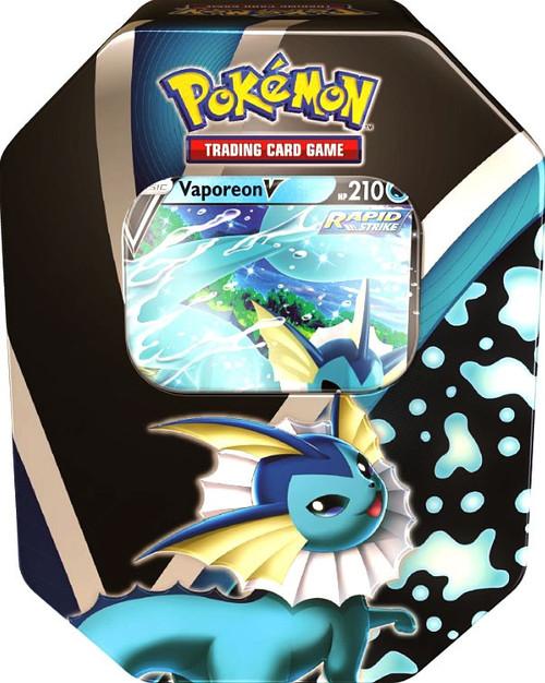 Pokemon Trading Card Game Eevee Evolutions Vaporeon V Tin [4 Booster Packs & Promo Card] (Pre-Order ships September)