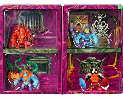 Masters of the Universe Eternia Minis Skeletor, Beast Man, Stinkor & Faker 2-Inch Mini Figure 4-Pack [Snake Mountain]