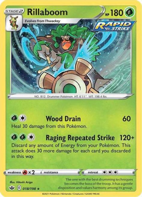 Pokemon Chilling Reign Rare Holo Rillaboom #18