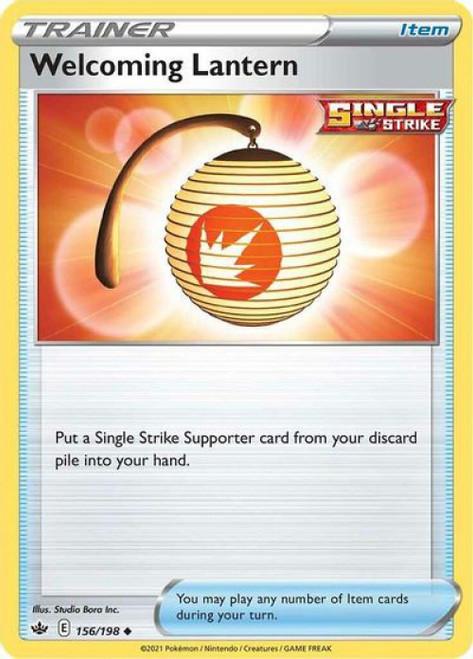 Pokemon Sword & Shield Chilling Reign Uncommon Welcoming Lantern #156