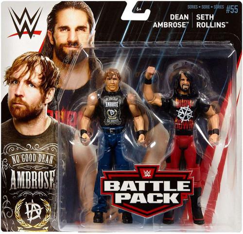 WWE Wrestling Battle Pack Series 55 Dean Ambrose & Seth Rollins Action Figure 2-Pack [Damaged Package]
