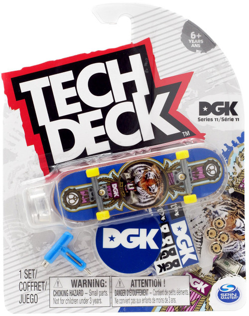 Tech Deck Series 11 DGK 96mm Mini Skateboard [Tiger]