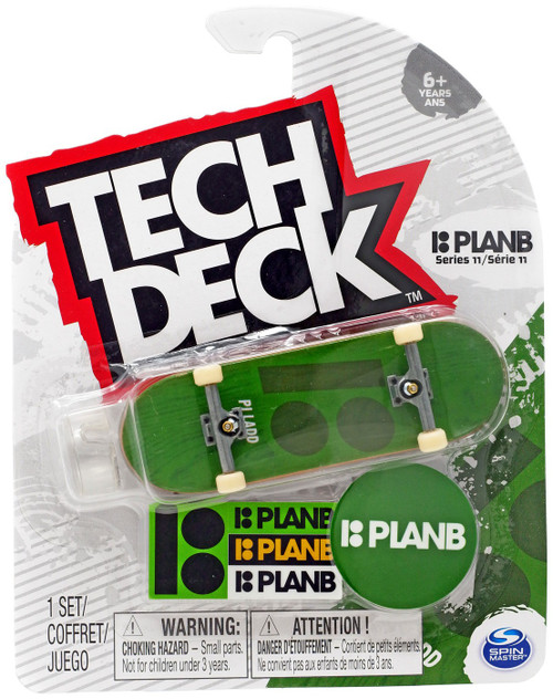 Tech Deck Series 11 PlanB 96mm Mini Skateboard [Green]