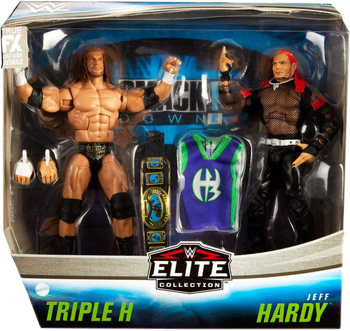 WWE Wrestling Elite Collection Triple H & Jeff Hardy Action Figure 2-Pack [Damaged Package]