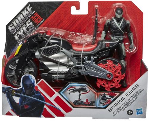 GI Joe Origins Snake Eyes with Stealth Cycle Vehicle & Action Figure