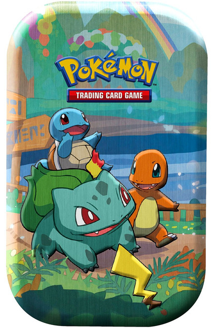 Pokemon Trading Card Game Celebrations Charmander, Squirtle & Bulbasaur Mini Tin Set [2 Celebrations Booster Packs + 1 Additional Booster Pack & Coin]