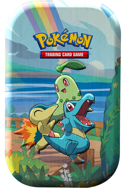 Pokemon Trading Card Game Celebrations Chikorita, Cyndaquil & Totodile Mini Tin Set [2 Celebrations Booster Packs + 1 Additional Booster Pack & Coin]