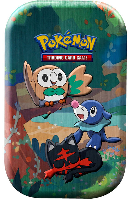 Pokemon Trading Card Game Celebrations Rowlet, Litten & Popplio Mini Tin Set [2 Celebrations Booster Packs + 1 Additional Booster Pack & Coin] (Pre-Order ships October)