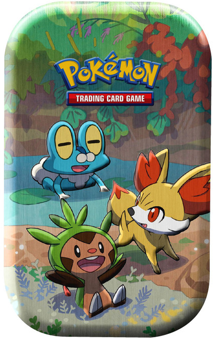 Pokemon Trading Card Game Celebrations Chespin, Fennekin & Froakie Mini Tin Set [2 Celebrations Booster Packs + 1 Additional Booster Pack & Coin]