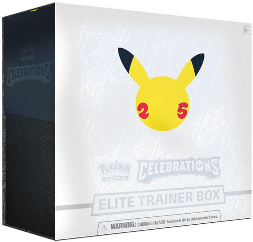 Pokemon Trading Card Game Celebrations Elite Trainer Box [10 Celebrations Booster Packs + 5 Additional Booster Packs, 65 Card Sleeves, Foil Card & More]
