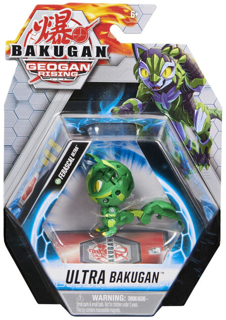 Geogan Rising Ultra Bakugan Ferascal Ultra Single Figure & Trading Card