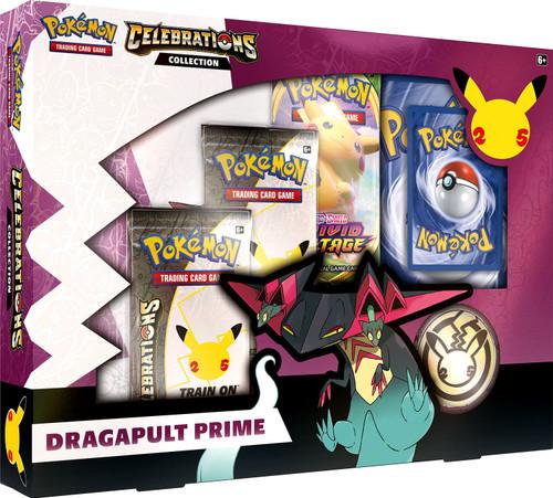 Pokemon Trading Card Game Celebrations Dragapult Prime Collection Box [2 Celebrations Booster Packs + 1 Additional Booster Packs, Foil Promo Card, Oversize Card, Coin & More] (Pre-Order ships October)