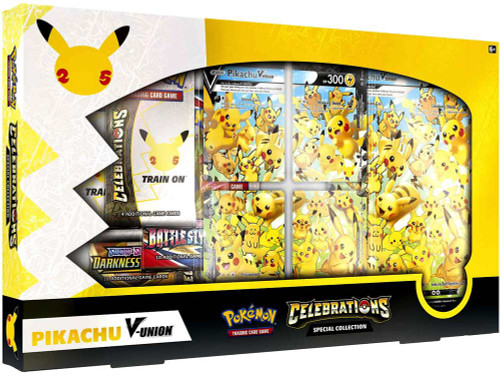 Pokemon Trading Card Game Celebrations Pikachu V-Union Special Collection [4 Celebrations Booster Packs + 2 Additional Booster Packs, 4 Foil Promo Cards, Oversize Card & More] (Pre-Order ships October)